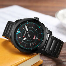 Men Quartz Watch Stainless Steel Band Auto Date Week Fashion Sport Wristwatches