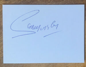 Signed White Card Sammy McIlroy 1970s  Manchester United Football Autograph
