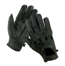 Men's Cow Hide Leather Driving Gloves Motorcycle Biker Style Unlined Gloves New