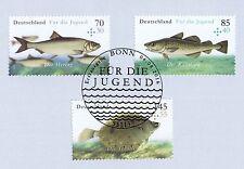 Rfa 2016: Salzwasserfische ! Jugendmarken No. 3255-3257 Avec Bonner Timbre !