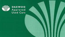 DAEWOO Approvato AUTO USATE 1998-99 UK Opuscolo Vendite sul Mercato PIEGA