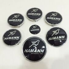 7pcs Set Hamann Sticker Steering Emblem Badge Wheel Center Trunk Hub Cap