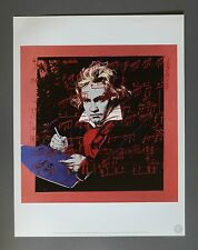 Andy Warhol Foundation Ltd Ed. Offset Lithograph 31x40 Ludwig van Beethoven 1987