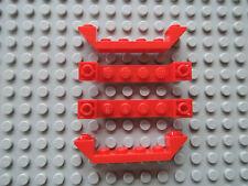 Lego 4 x Schrägstein 52501 rot 6x1 negativ   7239 7945 7898