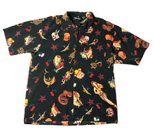 Dragonfly Clothing Vintage Traditional Tattoo Art Graphic Print Button Shirt Xl