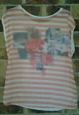 Ladies Size 10 Cream Top with Apricot Photo Finish