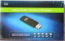 Linksys AE1200 Wireless N USB Adapter Cisco High Speed BRAND NEW IN BOX $$ CUT!!