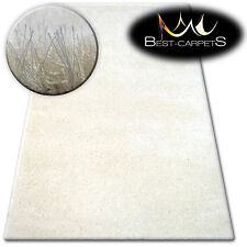 FLUFFY CHEAP SOFT RUGS SHAGGY 'NARIN CREAM' HIGH QUALITY nice in touch CARPETS