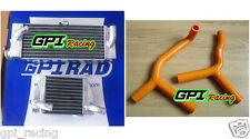 aluminum radiator KTM 85 sx 105 sx 85SX 105SX 2003-2012 04 05 06 07 08 09 + hose