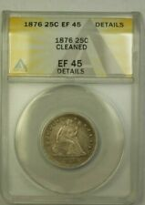1876 Seated Liberty Quarter ANACS EF-45 Details Cleaned (24)
