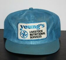 VINTAGE YOUNG'S Livestock Nutritional USA K-Products Trucker Hat Cap Snapback