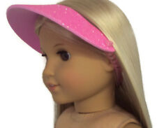 Pink with Glitter Visor Hat for 18 inch American Girl Doll Clothes Accessories