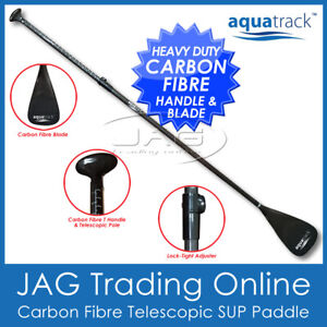 AQUATRACK ULTRALIGHT CARBON FIBRE SUP PADDLE - 3-Piece Stand up Paddle Board Oar