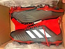 adidas Men's Predator 18.1 FG US Size 12 Soccer Cleats (Black/White/Red)  NEW!