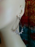 Small Sawblade Afghan Tribal Earrings 2.6""