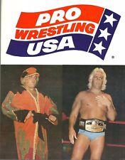 NWA1986 Pro Wrestling USA Program Dusty Rhodes vs Ric Flair  cond. 9/10  HISTORY