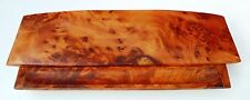 RARE THUYA WOOD PEN TRAY BOX DESK TOP ACCESSORY