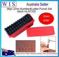 "36pc 2mm(5/64"") Steel Punch Alphabet Letter Number Stamp Tool Metal Leather Craf"