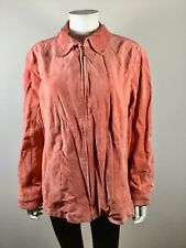 NWT $128 CHICO'S Ginger Coral Flagstaff Suede Leather Jacket Size 3 or 16