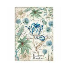 Rice Decoupage Paper / Decoupage Sheets  / Scrapbooking / Blue Tulips