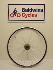 700c REAR Road Bike Wheel Q/R Hub BLACK Weinman Rim + 9 Speed Cassette
