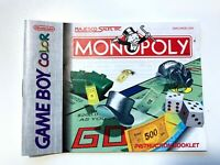 MANUAL ONLY Monopoly Original Nintendo Gameboy Color Instruction Booklet Book