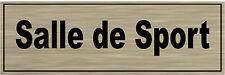 1 plaque aluminium brossé Signalétique de porte-Salle-de-Sport