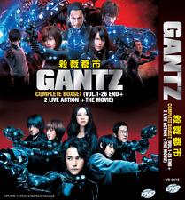 GANTZ Complete Anime TV Series + 2 Live Action Movies + Gantz:O (DVD)