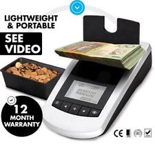 Money Counter Portable Digital Coin Note Sorter Jewellery Scales Australian