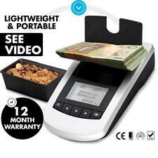 Portable Digital Coin Note Sorter Money Counter Jewellery Scales Australian