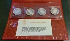 1970 GUINEA 75 Pesetas 4-Coin Silver Proof Set Gandhi Lincoln Pope John Lenin