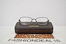 New Roberto Cavalli Rododendro Black Rose Gold 629 001 53-16-135 RX Eyeglasses