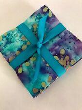 """100 Blue purple lot BATIK  precut charm pack 5"""" squares 100% cotton fabric quilt"""