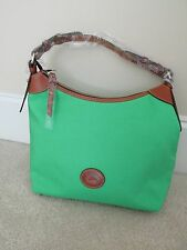Dooney & Bourke Sport Nylon Large Hobo (Kelly Green / Tan Trim)
