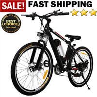 "Shimano 26''/27.5"" Electric Bike Mountain Bicycle Ebike 21/24 Speed 250 /500W US"