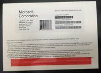 Microsoft Windows 10 Professional 64 Bit (DVD + License product Key) Brand New