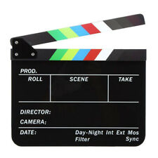 Acrylic Film Director Clapboard Dry Erase English Letter Movie Clapper Board Fun