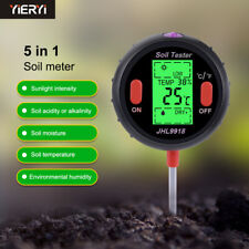 5-in-1 soil pH/humidity/temperature/photometric multi-function tester