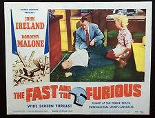 THE FAST AND THE FURIOUS US Lobby Card 1954 Roger Corman Auto Racing Cars c