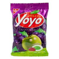 Yoyo Jelly Tropical Sweet Grape Apple Fruit Juice Jalatin Gummy Jelly Candy 80g.