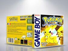 Pokemon Version Jaune - GameBoy - Replacement - Cover/Case - NO Game - FR/US/DEU