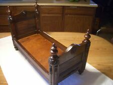 MAGNIFICENT TURN OF CENTURY SOLID OAK ANTIQUE BED, 24X16X11 SALESMAN'S SAMPLE?