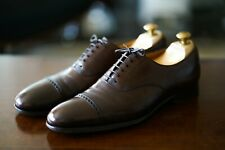 "CROCKETT AND JONES - Handgrade ""Belgrave"" Semi-Brogue - Dark Brown Antique UK 9"