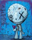 """""""Journey"""" inspirational gothic lowbrow outsider art print signed by Gus Fink"""