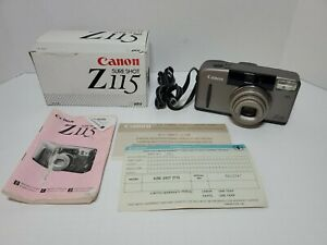 Canon Sure Shot Z115 Point & Shoot 35mm Film Camera w/ Box & Manual TESTED