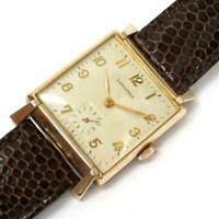 Longines Hand winding small seconds men's antique square SS watch Excellent