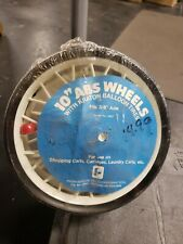 "Set Of 2 Vintage Wire Grocery Laundry Shopping Cart 10"" Abs wheels Nos 3/8"" Axle"