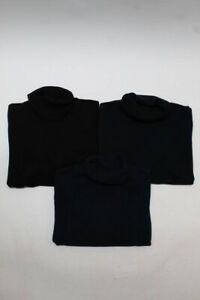 Neiman Marcus Womens Turtleneck Sweater Navy Black Size 2X Lot 3