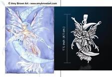 STAR LUCERNA CIONDOLO FATA FANTASY artista AMY Brown PETER STONE proprio come argento