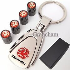 Vauxhall solid metal key ring + Tyre valve caps with gift box, MX-5 RX-8
